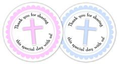 Homemade Baptism Favors, Free Baptism Printable Favor Tags | Diva Entertains Blog