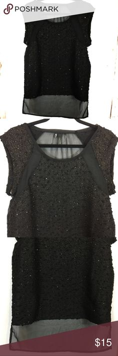 Maurice's black Sheer back high low shirt small Maurice's high low shirt back is sheer Maurices Tops