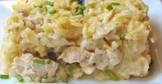 Chicken and rice casseroles are a staple of American cooking. This version uses cream of mushroom, cream of celery, and cream of chicken to give a rich flavor to a quick school-night dinner when getting your back-to-school routine settled. Pastas Recipes, Dinner Recipes, Cooking Recipes, Healthy Recipes, Crockpot Recipes, Recipies, Skinny Recipes, Healthy Meals, Chicken Casserole