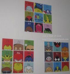 Hero Squares --- good for boy room decor
