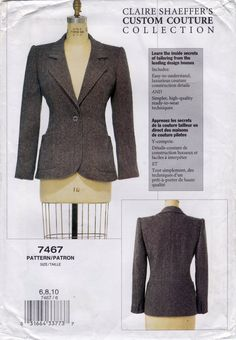 Vogue 7467 Claire Shaeffer Jacket