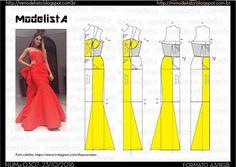 ModelistA: A3 NUMo 0307 MERMAID DRESS