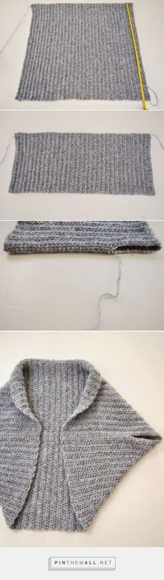 How to fold and sew a basic knit rectangle into a shrug ~ The Shrug Blog by Gloria Segura
