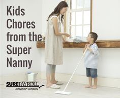 As a working mom, you're overwhelmed with chores and a mile-long TTD (Things to Do) list.  And your kids keep badgering you for the latest electronic gizmos while you're on your hands and knees scrubbing the toilet.  How can you get them to help out?  Here are some tips from ABC's The Super Nanny to help get your kids off the couch - so you can sit down! http://www.babble.com/kid/supernanny-jo-frost-tips-kids-chores/