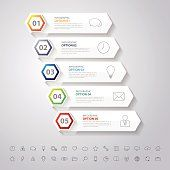 Design clean flat long icon banners template.Vector/EPS 10.