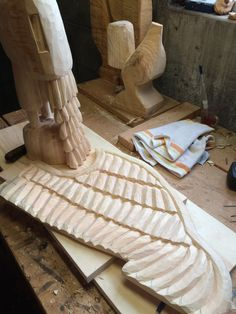 working on a wing...