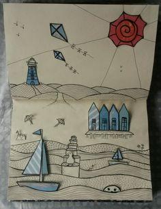 #doodlelandschap strand @vruijke