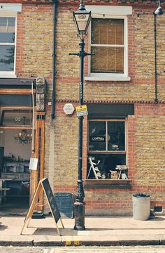 Campania Cafe | London Mobile Coffee Shop, London Dreams, Window Bars, London Cafe, Shops, Cafe Bistro, London Places, Cafe Shop, Street Lamp
