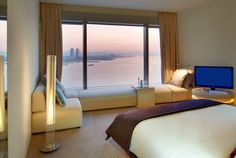 Hotel W Barcelona - Barcelona, España Barcelona Hotels, W Barcelona, Hotel W, Hotel Bedroom Design, Unusual Hotels, Amazing Hotels, Modern Architects, Window Styles, My Dream Home