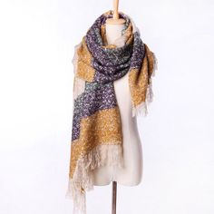 6.47€ - Women Winter Mohair Scarf Long Size Warm Fashion Scarves & Wraps - The Rose Luxury Women T-shirt Store
