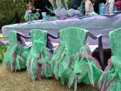 mermaid party  I just like the chair covers. Maybe this can be just for her chair.. Lol.