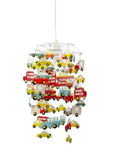 Cars Hanging Lampshade, Child's Bedroom | Vertbaudet