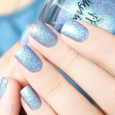 Winter Season Nails in Pale Blue Shades picture 1
