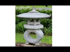 Concrete japanese lantern making - Omokage Yukimi-dōrō