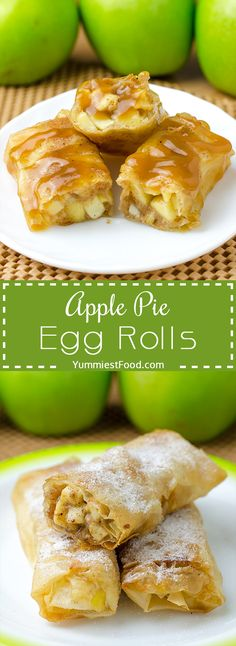 Apple Pie Egg Rolls - if you like apple and cinnamon combination this recipe is perfect for you! Super tasty and delicious! Easy and quick to make and even easier to eat - Apple Pie Egg Rolls!