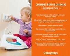 #Cuidados_com_as_Crianças_Segurança_em_Casa #babysteps #infográficos #cuidados #segurança #casa