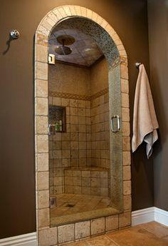 Medeterrain Bathrooms With Rain Showers | Travertine Steam Shower Design  Ideas, Pictures, Remodel,