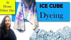 Ice dyeing is a fun way to dye your fabrics at home.You will not need any extraordinary material for this. JUst simple fabric dye, dyeable fabric and ice cub. Ice Dyeing, How To Dye Fabric, Fabric Painting, Diy Fashion, Fabric Design, Make It Yourself, Dyes, Easy, Prints