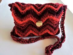 shoulder bag, red bag,  knitted bag, cross body bag, knitted bags with bead,brown and red, colorful, colorful bag, pouch bag, stripe purse
