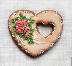 Купить Пряник имбирный Сердце. Кулинарный сувенир - пряничное сердце, пряничный…