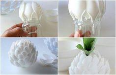 Florero cucharas recicladas