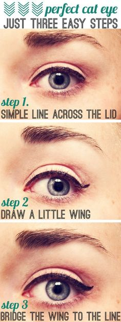 cat eye tutorial. If only it was that easy for me! lol