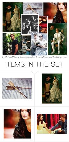 """Katniss and Peeta <3"" by chiara221 ❤ liked on Polyvore featuring art"