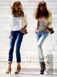 Fashion Fancy Modern Spring Street Style Love rolled up jeans with heels Denim Fashion, I Love Fashion, Passion For Fashion, Spring Fashion, Fashion Looks, Womens Fashion, Fashion News, Fashion Models, Looks Street Style