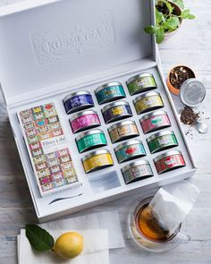 Collection of 15 loose tea miniature tins. A selection of Kusmi's iconic creations with five Wellness teas (Detox, Euphoria, BB Detox, Be Cool, Sweet Love), Five Exclusive blends (Prince Vladimir, Ana