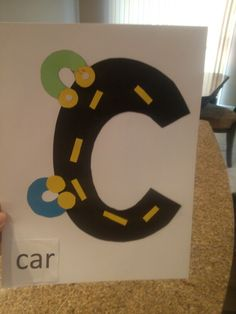Fun craft I did with my 2yr old for the letter c