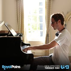 Paulo Costanzo playing the piano. #BTS #RoyalPains