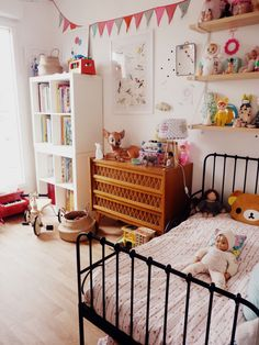 A pink kids room Baby Bedroom, Kids Bedroom, Cool Kids Rooms, Baby Room Design, Toddler Rooms, Little Girl Rooms, Kid Spaces, Kids Decor, Boy Room