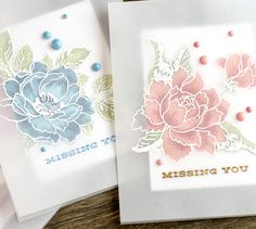 Today's video shows how to create a vellum overlay card and gives a closer look at the Altenew dye inks.