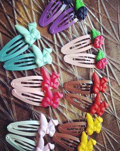Handmade polymerclay snap clips