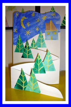 Www pripravy estranky cz fotoalbum 02 nÁmĚty do vv náměty do vv a pv č 2 Winter Art Projects, Winter Crafts For Kids, Art For Kids, Winter Christmas, Kids Christmas, Theme Noel, Art Classroom, Christmas Activities, Elementary Art