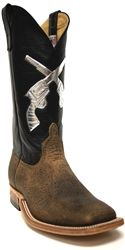 Anderson Bean men's cowboy boots with black tops & silver guns.