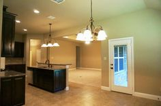 Kitchen, granite countertops, solid wood cabinets, open concept living #mcbeehomes