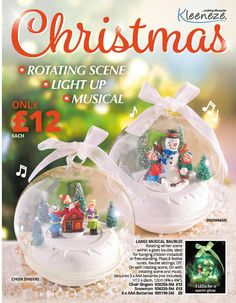 Christmas Extra 2017 Christmas Tree Decorations, Christmas Bulbs, Holiday Decor, Winter Scenes, Choir, Light Up, Snow Globes, Snowman, Musicals