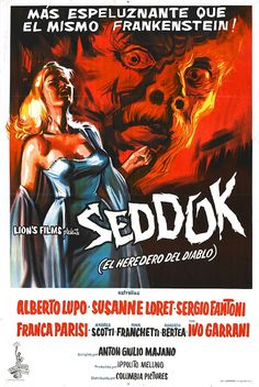 – B-Movie Poster Emporium Horror Movie Posters, Movie Poster Art, Horror Films, Film Posters, Fiction Movies, Cult Movies, Frankenstein, Anton, Horror Font