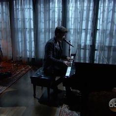 Imagine him playing a song for you on that piano.