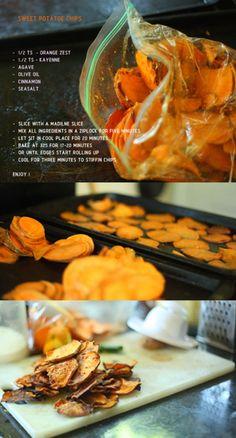 Orange zest sweet potatoe chips!!! Great!!