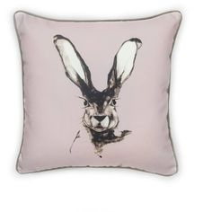 Dwelling Bird - Jackrabbit Cushion Heather Single ($61) ❤ liked on Polyvore featuring home, outdoors, outdoor decor and bird garden decor