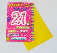21st Birthday Cards, Birthday Cards For Women, Stuff To Do, Fun Stuff, Celebrations, Birthdays, Stationery, Greeting Cards, Amazon