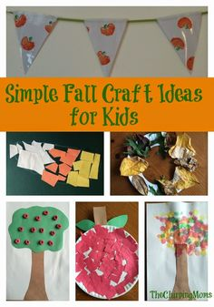 Simple Fall Crafts for Kids : The Chirping Moms