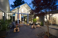 San Francisco firm Klopf Architecture undertook this remodeling project and tackled it with some unusual architectural features including two gables, one central private garden, and a cool aesthetic with an...