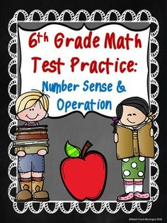 """""""6th Grade Math Test Practice"""" is a great addition to your test prep routine!  This set contains 5 printable pages that focus on the following concepts:*comparing/ordering fractions, decimals, percents*comparing/solving exponents  -includes: order of operations and decimals*computation with integers*computation with decimals and fractions*converting decimals, fractions, percents*word problemsAll problems are multiple choice."""