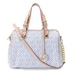 7c17308a77daea Michael Kors Handbags MK 11 Series Satchels Hole White WBMKHB150226 Michael  Kors Satchel, Handbags Michael