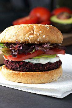 black bean and beet burgers - BeginWithin Nutrition