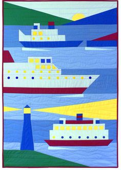 """Ships Ahoy, 38 x 54"""", quilt pattern by Rebecca Ruth Designs"""