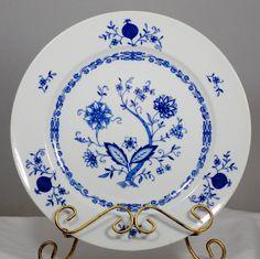 Vintage Seltmann Weiden Christina Rose Dinner Plate Blue Onion Bavaria Rose